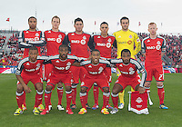 24 March 2012: The Toronto FC starting eleven during a game between the San Jose Earthquakes and Toronto FC at BMO Field in Toronto..The San Jose Earthquakes won 3-0..