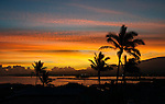 A sunrise over the harbor at Kahului, Maui