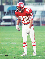 Tom Forzani Calgary Stampeders 1983. Copyright photograph Scott Grant