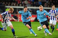 VOETBAL: HEERENVEEN: Abe Lenstra Stadion, SC Heerenveen - Ajax, 11-01-2012, Eindstand 0-5, Derk Boerrigter (#21), Kolbeinn Sigthórsson (#9), ©foto Martin de Jong