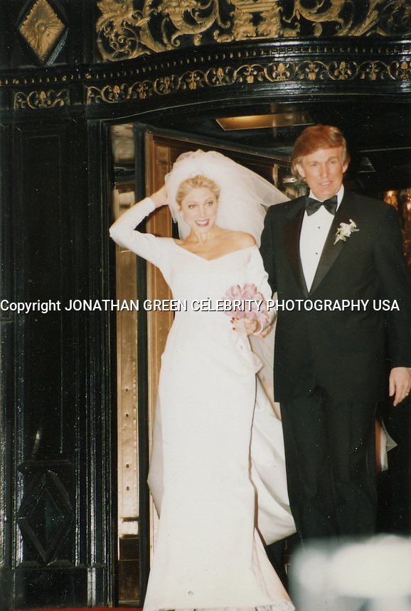 Name Donald Trump & Marla Maples Wedding NYC 1993 By Jonathan