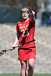 27 February 2016: Maryland's Megan Whittle. The University of North Carolina Tar Heels hosted the University of Maryland Terrapins in a 2016 NCAA Division I Women's Lacrosse match. Maryland won the game 8-7.