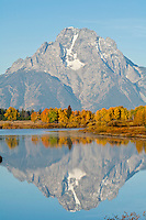Mt Moran from Oxbow Bend in Grand Teton National Park