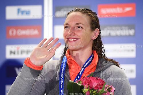 Katinka Hosszu (HUN), <br /> OCTOBER 26, 2016 - Swimming : FINA Swimming World Cup Tokyo <br /> Women's 100m Individual Medley Award Ceremony <br /> at Tatsumi International Swimming Pool, Tokyo, Japan. <br /> (Photo by AFLO SPORT)