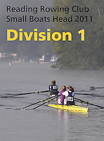 Reading Rowing Club Small Boats Head 2011-Div 1