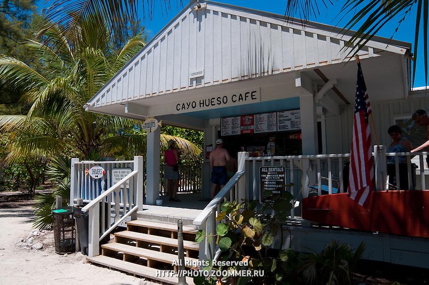 Cayo Hueso cafe on the beach of Zachary Taylor Park, Key West, Florida