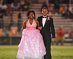 Junior maid Amber Hairston (left) with escort Austin Groner at Lafayette High vs. Tunica Rosa Fort in Oxford, Miss. on Friday, October 5, 2012. Lafayette High won 35-6.