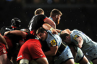 A general view of a maul. Aviva Premiership match, between Saracens and Worcester Warriors on November 28, 2015 at Twickenham Stadium in London, England. Photo by: Patrick Khachfe / JMP
