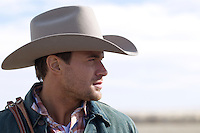 portrait of a very good looking cowboy in New Mexico