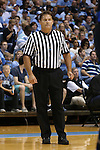 24 October 2014: Referee Raymond Styons. The University of North Carolina Tar Heels played the Fayetteville State University Broncos in an NCAA Division I Men's basketball exhibition game at the Dean E. Smith Center in Chapel Hill, North Carolina. UNC won the exhibition 111-58.