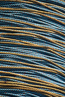 Commercial fishing long line coil, St. Paul Island, Bering Sea, Alaska.