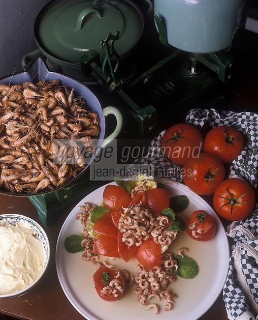 Europe/Belgique/Oostduinkerke: Tomates et crevettes