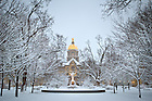 Jan. 22, 2013; Main Quad on a winter morning...Photo by Matt Cashore/University of Notre Dame