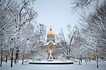 1.22.13 Main Quad Snow.JPG by Matt Cashore/University of Notre Dame