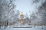 1.22.13 Main Quad Snow.JPG by Matt Cashore/University of Notre Dame