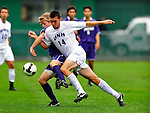13 September 2009: University of New Hampshire Wildcats' midfielder/forward Charlie Roche, a Freshman from Haverhill, MA, in action against the University of Portland Pilots during the second round of the 2009 Morgan Stanley Smith Barney Soccer Classic held at Centennial Field in Burlington, Vermont. The Pilots defeated the Wildcats 1-0 and inso doing were the Tournament Champions for 2009. Mandatory Photo Credit: Ed Wolfstein Photo
