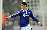 FUSSBALL   1. BUNDESLIGA   SAISON 2011/2012   18. SPIELTAG FC Schalke 04 - VfB Stuttgart            21.01.2012 Julian Draxler (F Schalke 04) bejubelt seinen Treffer zum 3:0
