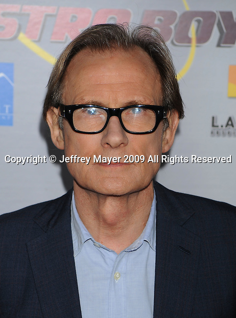 """HOLLYWOOD, CA. - October 19: Bill Nighy arrives at the """"Astro Boy"""" Los Angeles premiere at Grauman's Chinese Theatre on October 19, 2009 in Los Angeles, California."""