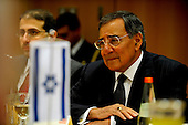 United States Secretary of Defense Leon Panetta meets with Minister of Defense Ehud Barak of Israel in Tel Aviv, Israel, October 3, 2011. Panetta is scheduled to discuss a variety of defense related issues during his trip. .Mandatory Credit: Jacob N. Bailey / USAF via CNP