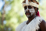 Indigenous dancer from the Torres Strait islands at the Laura Aboriginal Dance Festival.  Laura, Queensland, Australia