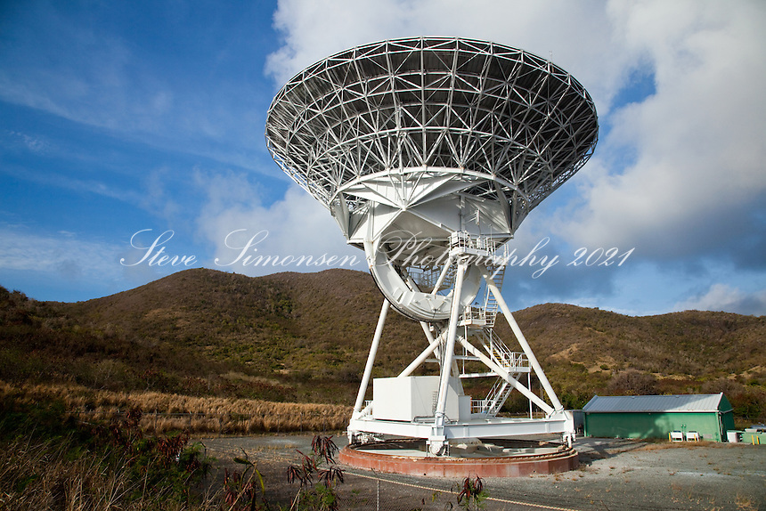 Radio Telescope.East end of St Croix.US Virgin Islands