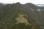 The switchback seen in the lower left hand portion is the only way to access Machu Picchu. This image shows the sheer difficulty of what would have been an incredible undertaking during the height of the Incan Empire, approx. 1450's.