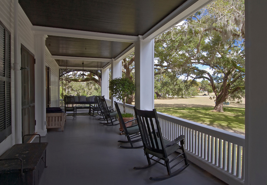 Georgia, Cumberland Island, Greyfield Inn, Porch