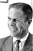"""Portrait of H. R. """"Bob"""" Haldeman taken in Washington, D.C. on May 26, 1969.  He served as Chief of Staff for United States President Richard M. Nixon until his forced resignation on April 30, 1973 for his involvement in the Watergate Affair.  Haldeman served 18 months in prison for his role in Watergate.  He was born Harry Robbins Haldeman on October 27, 1926 in Los Angeles, California.  He died of cancer at his home in Santa Barbara, California on November 12, 1993..Credit: White House / CNP"""