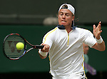 Tennis All England Championships Wimbledon Lleyton Hewitt (AUS) spielt eine Vorhand.