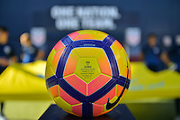San Diego, CA - Sunday January 29, 2017: Nike match ball prior to an international friendly between the men's national teams of the United States (USA) and Serbia (SRB) at Qualcomm Stadium.
