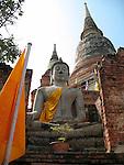 Large Buddha-Wat Yai Chaya Mongkol-Ayatthaya, Thailand