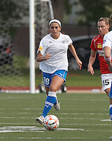 Boston Breakers defender Bianca D'Agostino (19). In a Women's Premier Soccer League Elite (WPSL) match, the Boston Breakers defeated Western New York Flash, 3-2, at Dilboy Stadium on May 26, 2012.