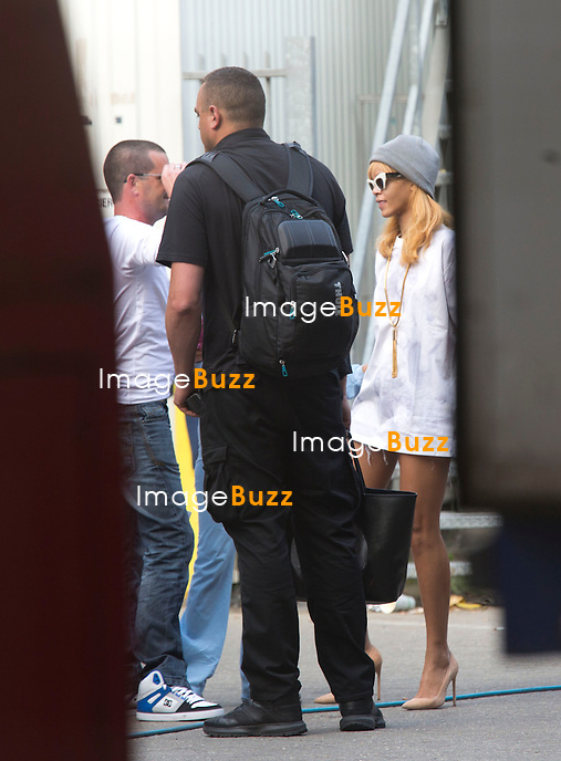 EXCLUSIVE -Rihanna arriving at the Sportpaleis to perform her second night concert. June 6, 2013.