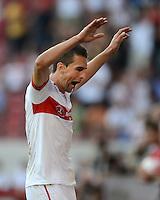 Fussball Europa League Play Offs:  Saison   2012/2013     VfB Stuttgart - Dynamo Moskau  22.08.2012 Jubel nach dem Tor zum 1:0 Vedad Ibisevic (VfB Stuttgart)