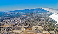 Santa Monica CA, Aerial view, Mountains, Houses