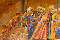 Mosaic on Saint Marks Basilica -Taking Saint Marks Body From Alexandria -  Venice - Italy
