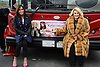 "Melissa Riversand Joan Rivers  honored by Gray Line New York with a ""Ride of Fame"" bus with their name on a decal in the front of the bus on March 1, 2013 at Pier 78 in New York City."