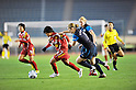 (L to R) Shinobu Ono (Leonessa), Ciara Grant (Arsenal), NOVEMBER 30, 2011 - Football / Soccer : TOYOTA Vitz Cup during Frendiy Women's Football match INAC Kobe Leonessa 1-1 Arsenal Ladies FC at National Stadium in Tokyo, Japan. (Photo by Jun Tsukida/AFLO SPORT) [0003]
