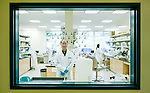 Research scientist in his lab, shot for BioRad annual report.
