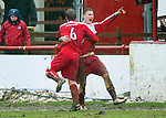 Brechin v St Johnstone....12.03.11  Scottish Cup Quarter Final.Rory McAllister celebrates the equaliser.Picture by Graeme Hart..Copyright Perthshire Picture Agency.Tel: 01738 623350  Mobile: 07990 594431