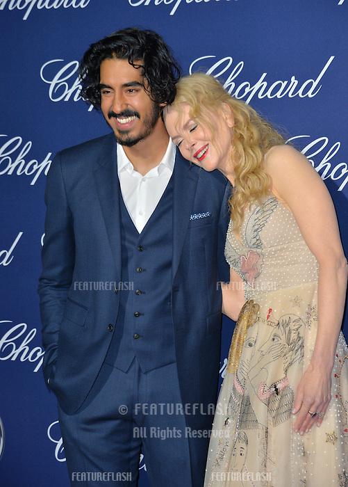 Actors Nicole Kidman &amp; Dev Patel at the 2017 Palm Springs Film Festival Awards Gala. January 2, 2017<br /> Picture: Paul Smith/Featureflash/SilverHub 0208 004 5359/ 07711 972644 Editors@silverhubmedia.com