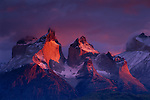 Cuernos del Paine are a testament to the forces of nature:  first carved by glaciers then polished by strong winds. Chile.