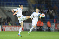 Riku Riski of Finland gets a toe to the ball during the Wales v Finland Vauxhall International friendly football match at the Cardiff City stadium, Cardiff, Wales. Photographer - Jeff Thomas Photography. Mob 07837 386244. All use of pictures are chargeable.