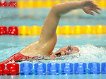 Stephanie Dixon in the pool in the 400 m freestyle. she won silver.<br /> (Benoit Pelosse photographe)