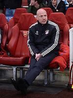 FUSSBALL  CHAMPIONS LEAGUE  ACHTELFINALE  HINSPIEL  2012/2013      FC Arsenal London - FC Bayern Muenchen       19.02.2013 Matthias Sammer (FC Bayern Muenchen)