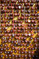 Name pendents at souvenir stall in the Forbidden City, Beijing, China