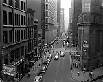 Pittsburgh PA:  View looking west on Wood Street from the 725 Building on Liberty Avenue - 1950