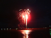 Harlingen, Vuurwerk ter afsluiting van de jaarlijkse Visserijdagen