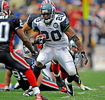 7 September 2008:  Seattle Seahawks' running back Maurice Morris makes a 13 yard gain in the third quarter against the Buffalo Bills at Ralph Wilson Stadium in Orchard Park, NY. The Bills defeated the Seahawks 34-10 in the season opening game...Mandatory Photo Credit: Ed Wolfstein Photo
