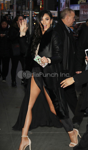 January 12,   2016:  Shay Mitchell at Good Morning America to talk premiere of  season 6 the second half of Pretty Little Liars in New York. Credit:RW/MediaPunch
